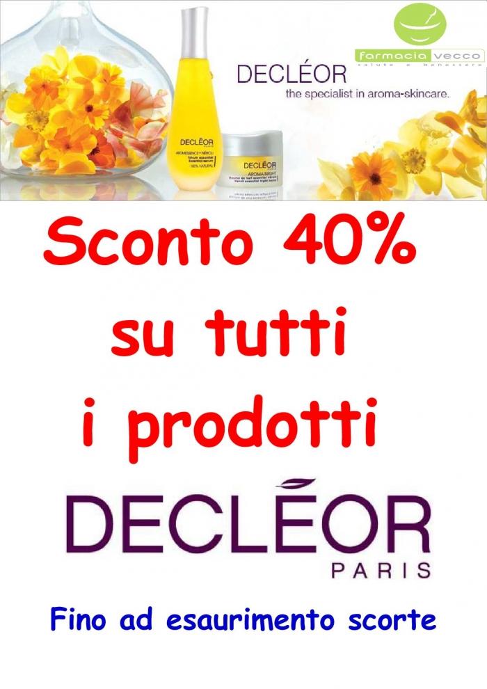 40 % di sconto sui prodotti decleor